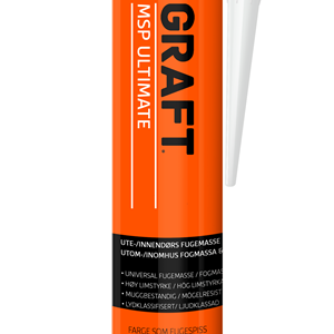 Graft MSP Fugemasse Hvit - 290 ml.