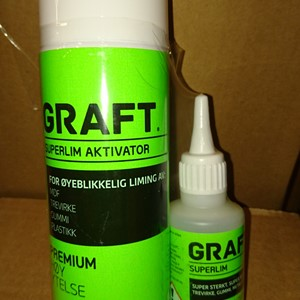 Graft Superlim(50) og Aktivator (200)